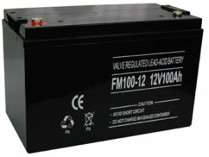 12V 100Ah GEL, Gelé Solar deep cycle batteri