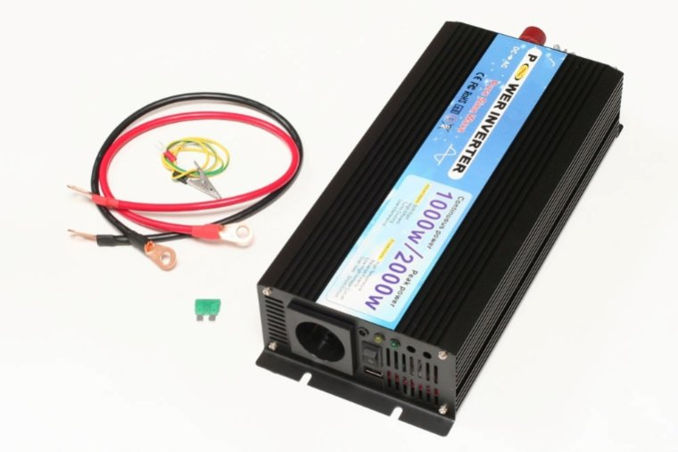 1000W 24V->230V Inverter - ren sinus