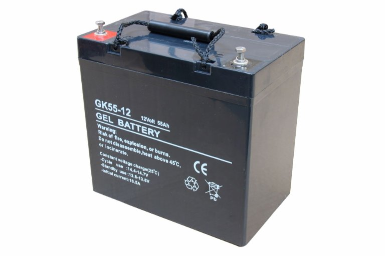 12V 55Ah AGM, deep cycle batteri